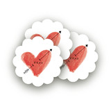 Heart and Arrow Large Stickers