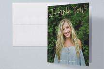 Foil-Pressed Graduation Announcement Thank You Cards