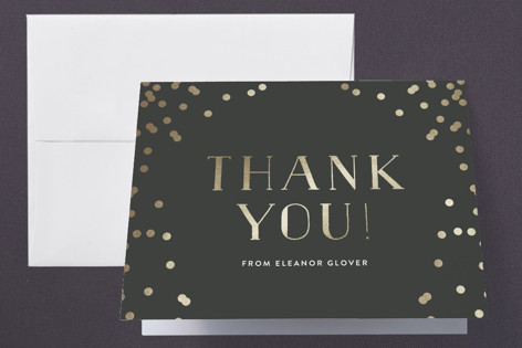 Confetti Dots Foil-Pressed Graduation Announcement Thank You Cards