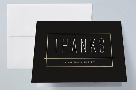 Acknowledged Foil-Pressed Graduation Announcement Thank You Cards