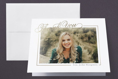 Montgomery Foil-Pressed Graduation Announcement Thank You Cards