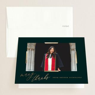 Great Achievement Foil-Pressed Graduation Announcement Thank You Cards