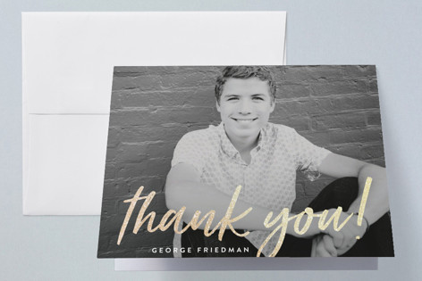 Signed Twenty Eighteen Foil-Pressed Graduation Announcement Thank You Cards