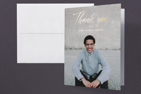 Fresh Foil-Pressed Graduation Announcement Thank You Cards