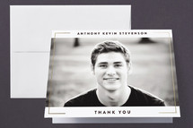 Foil-Pressed Graduation Announcement Thank You Cards