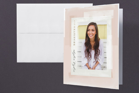 Numeral Foil-Pressed Graduation Announcement Thank You Cards