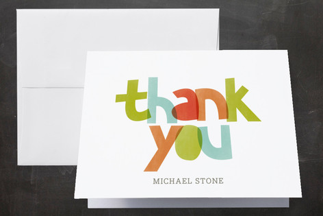 2016 Layers Graduation Thank You Cards