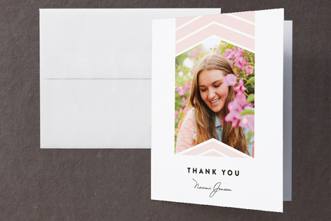 Moving Up Graduation Thank You Cards