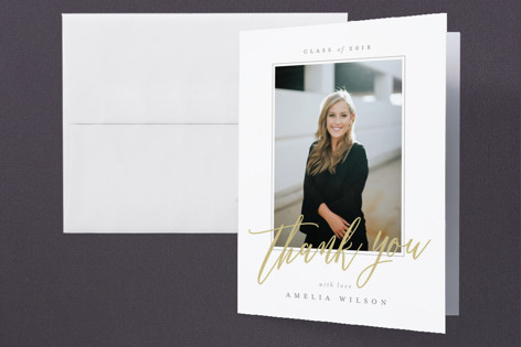 Clean & Classic Graduation Thank You Cards