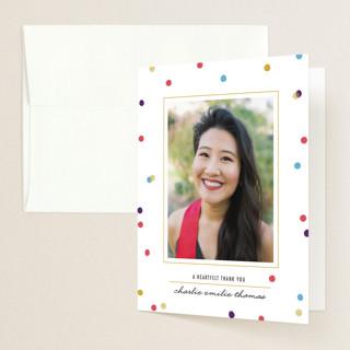 flecks of confetti Graduation Thank You Cards