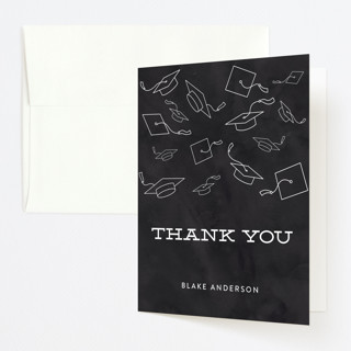Hats Off To The Grad Graduation Thank You Cards