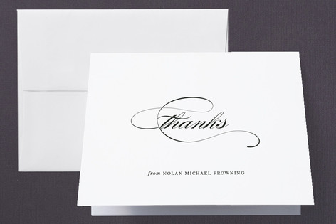 Simple Graduate Graduation Thank You Cards