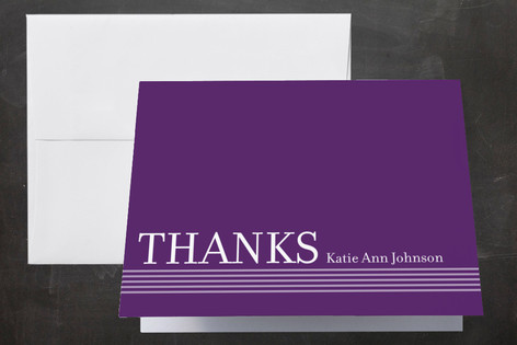 simply stripes Graduation Thank You Cards