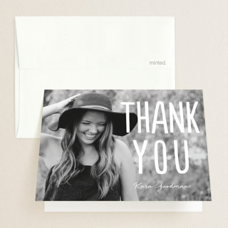 Centered Graduate Graduation Thank You Cards