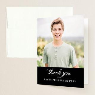Fun Facts Graduation Thank You Cards