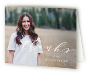 Scripted Name Graduation Thank You Cards