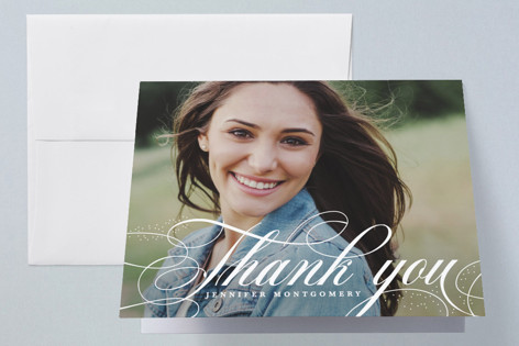 Glam quotient Graduation Thank You Cards