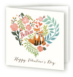 Red Fox Valentine's Day Greeting Cards