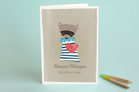 Raccoon Valentine's Day Greeting Cards