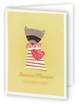 Raccoon Valentine&#039;s Day Greeting Cards