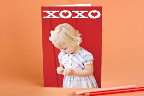 Bold XOXO Valentine's Day Greeting Cards