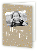 Glittering Heart Confetti Valentine&#039;s Day Greeting Cards