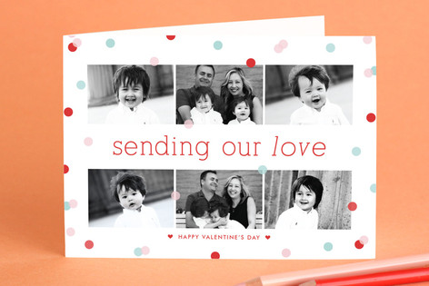 Confetti Valentine's Day Greeting Cards