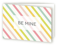Candy Stripe Valentine's Day Greeting Cards