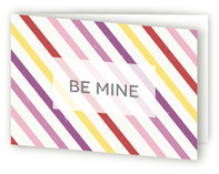 Candy Stripe Valentine&#039;s Day Greeting Cards