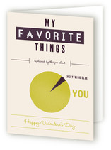 Favorite Infographic Valentine's Day Greeting Cards