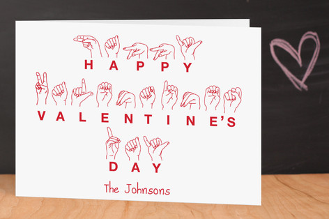 American Sign Language Love Valentine's Day Greeting Cards