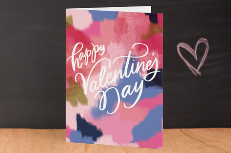 Abstract Art Heart Valentine's Day Greeting Cards