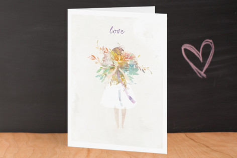 The Flower Girl Valentine's Day Greeting Cards