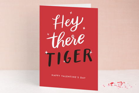 Hey There Tiger Valentine's Day Greeting Cards