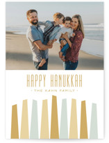 Modern Menorah Hanukkah Cards