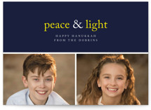 Peace &amp; Light Hanukkah Cards