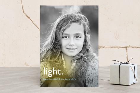Light Modern Hanukkah Cards