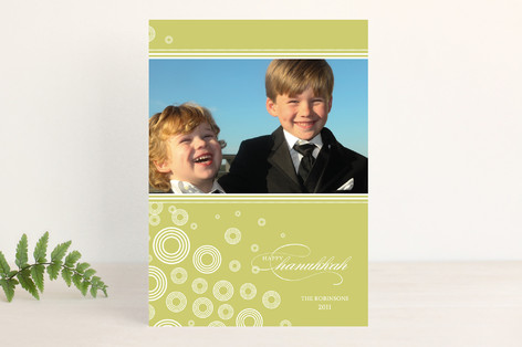 Snow Flurries Hanukkah Cards
