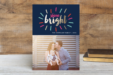 Shine Bright Burst Hanukkah Cards