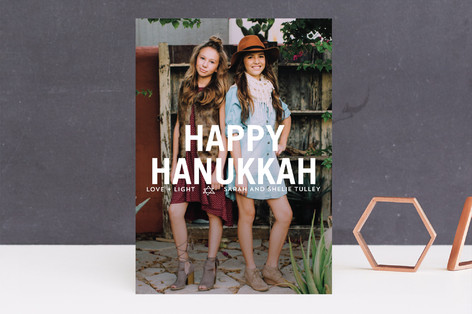 Front and Center Hanukkah Greetings Hanukkah Cards