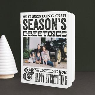 Joyful Type Holiday Booklette Cards