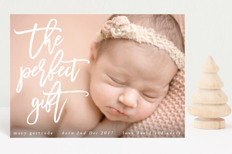 My First Noel Holiday Birth Announcement Petite Cards