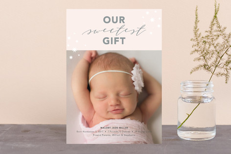 Our Sweetest Gift Holiday Birth Announcement Petite Cards