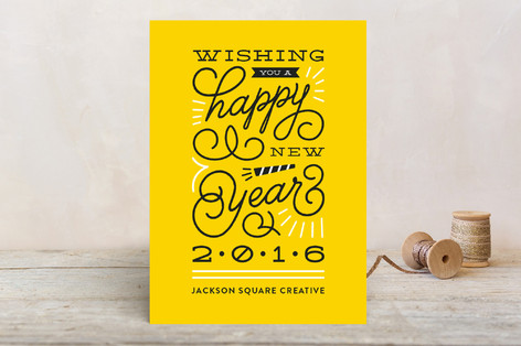 Bursts And Swirls Business Holiday Cards