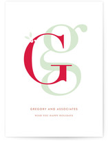 Lettered Greetings Business Holiday Cards