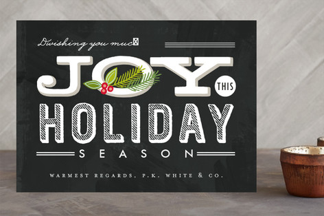 Business Holiday Cards from Minted – Reader Giveaway