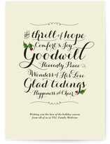 Glad Tidings Business Holiday Cards