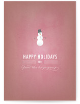 Snowy Man Business Holiday Cards