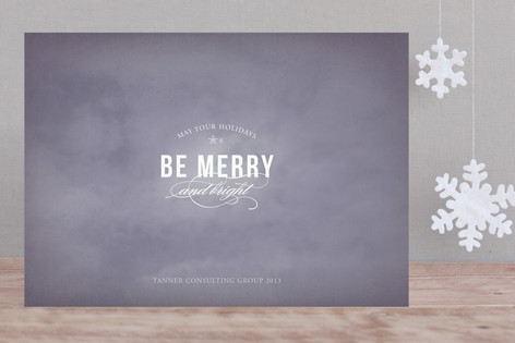 Starry Night Business Holiday Cards