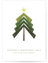 Simple Tree Business Holiday Cards